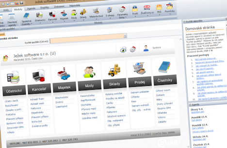 Homepage programu DUEL